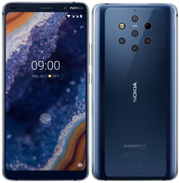 Nokia 9 PureView je dodáván s 12MP fotoaparátem s 5 snímači