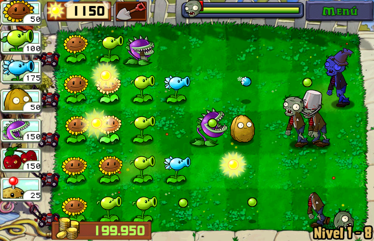 Hra Plants vs Zombies