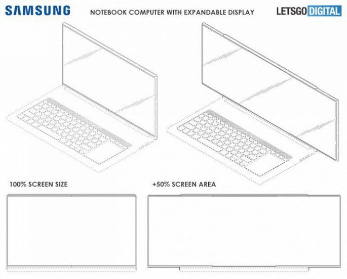 Notebook s posuvnou obrazovkou