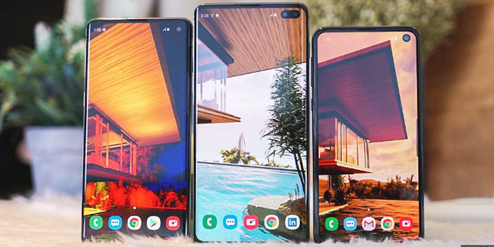 Snímek obrazovky Samsung Galaxy S10 S10plus S10e
