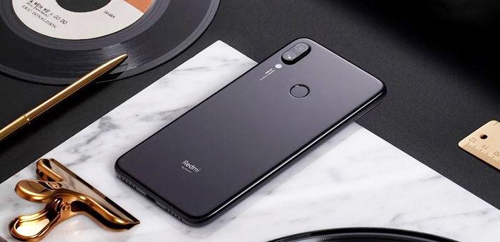 Redmi Note 7 Pro černá zadní strana