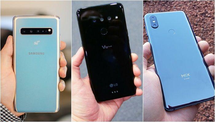 Galaxy S10 5G a LG V50 5G vs Xiaomi Mi Mix 3 5G zpět
