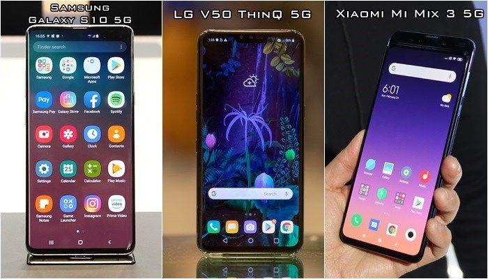 Designy Galaxy S10 5G, LG V50 5G a Xiaomi Mi Mix 3 5G