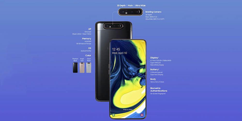 Funkce Galaxy A80