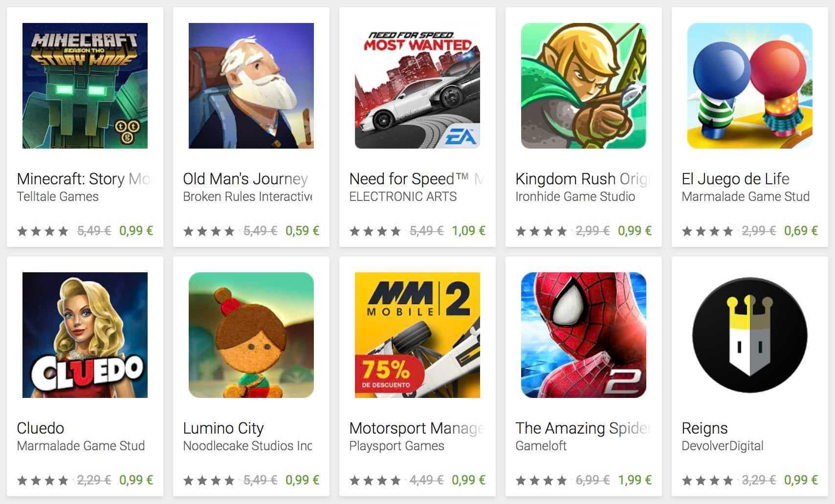 Vánoční nabídky na Google Play Games