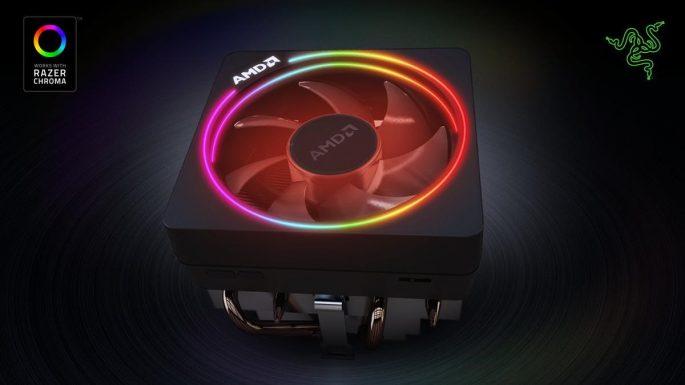 AMD Wraith Prism se systémem řízeného osvětlení Razer Chroma