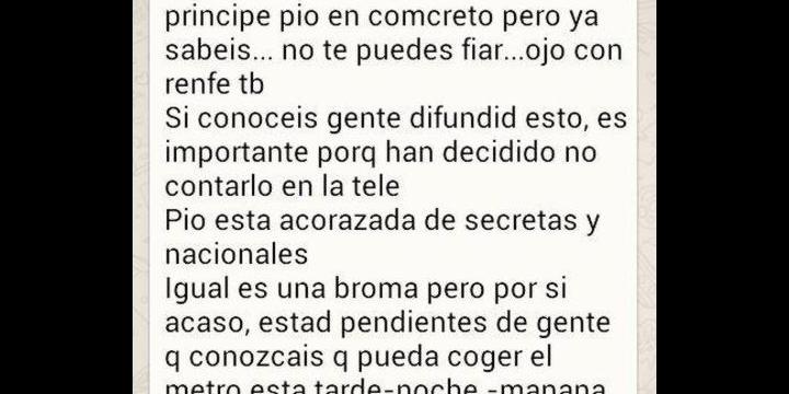 Řetěz WhatsApp varuje před umístěním bomby v Madridu