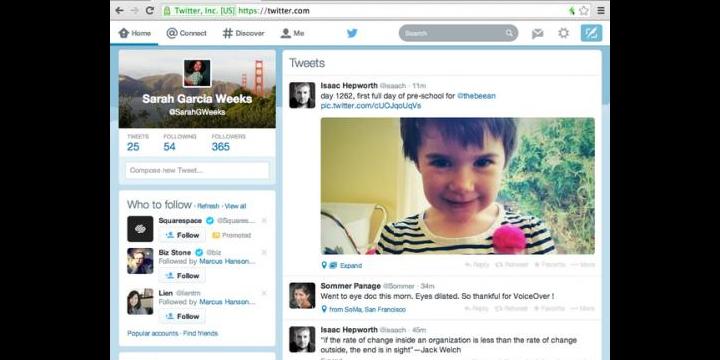 Twitter je osvěžující, aby přizpůsobil webového klienta designu aplikací