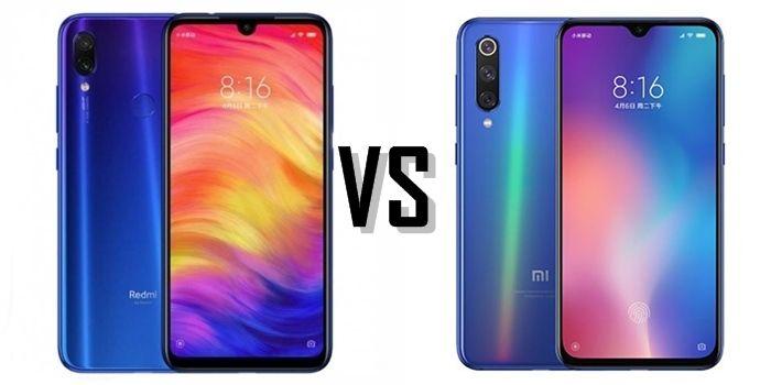 Porovnání Xiaomi Redmi Note 7 a Xiaomi Mi 9 SE